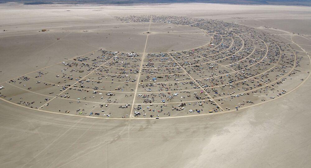ABD'nin Nevada eyaletindeki Black Rock Çölü'nde düzenlenen Burning Man Festivali