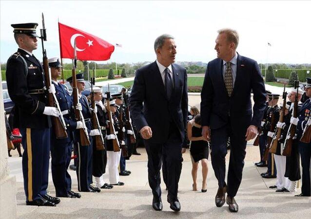Milli Savunma Bakanı Hulusi Akar - ABD Savunma Bakan Vekili Patrick Shanahan