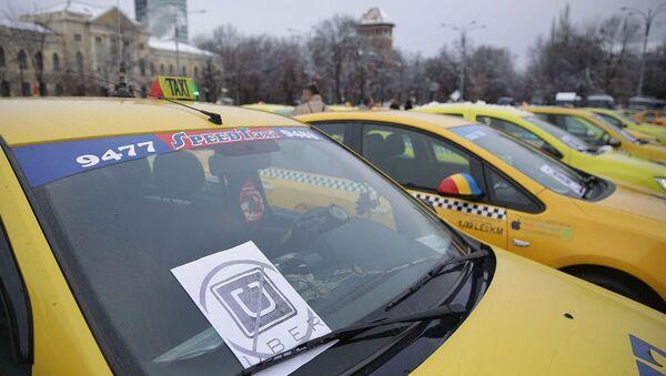 Bükreş'te Uber protestosu - Sputnik Türkiye