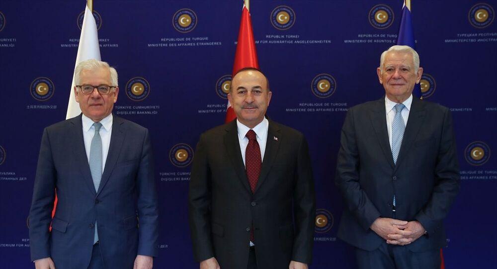 Mevlüt Çavuşoğlu, Teodor Melescanu, Jacek Czaputowicz
