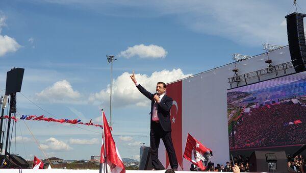 İstanbul Büyükşehir Belediyesi (İBB) Başkanı Ekrem İmamoğlu'nun Maltepe'deki 'İstanbul'a Yeni Bir Başlangıç Buluşması' - Sputnik Türkiye