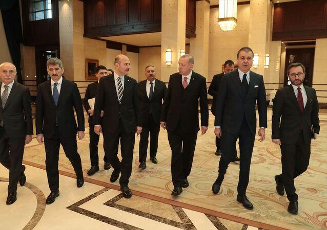 Recep Tayyip Erdoğan, Ömer Çelik, Süleyman Soylu, Fahrettin Altun