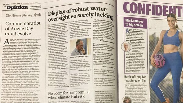 Avustralya'da The Daily Telegraph ile The Sydney Morning Herald'ın sayfaları karıştı. - Sputnik Türkiye