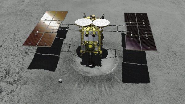 Japon Uzay Araştırma Ajansı (JAXA) tarafından Ryugu adlı asteroide indirilen Hayabusa2 uzay aracı - Sputnik Türkiye
