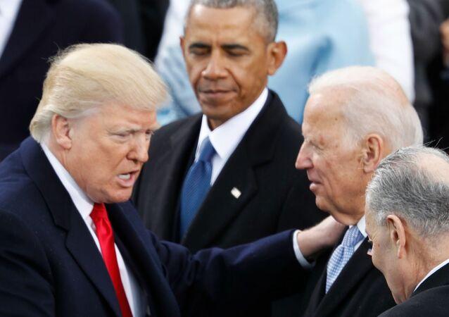 Trump'ın Biden ve Obama ile karşılaşması
