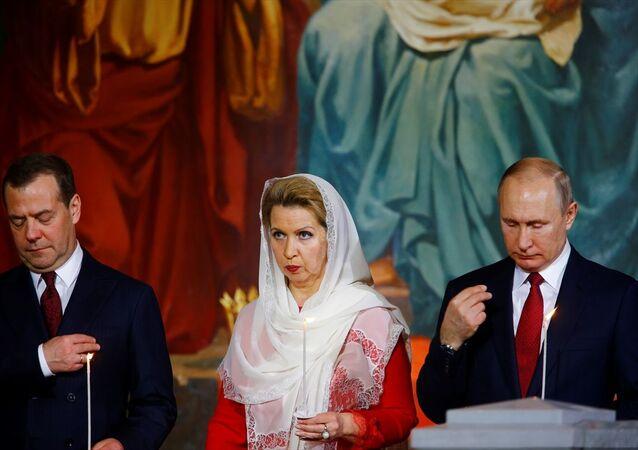 Rusya'nın başkenti Moskova'da, Kurtarıcı İsa Kilisesi'nde Rus Ortodoks Kilisesi Patriği Kiril, Paskalya Bayramı vesilesiyle ayinler yaptı.