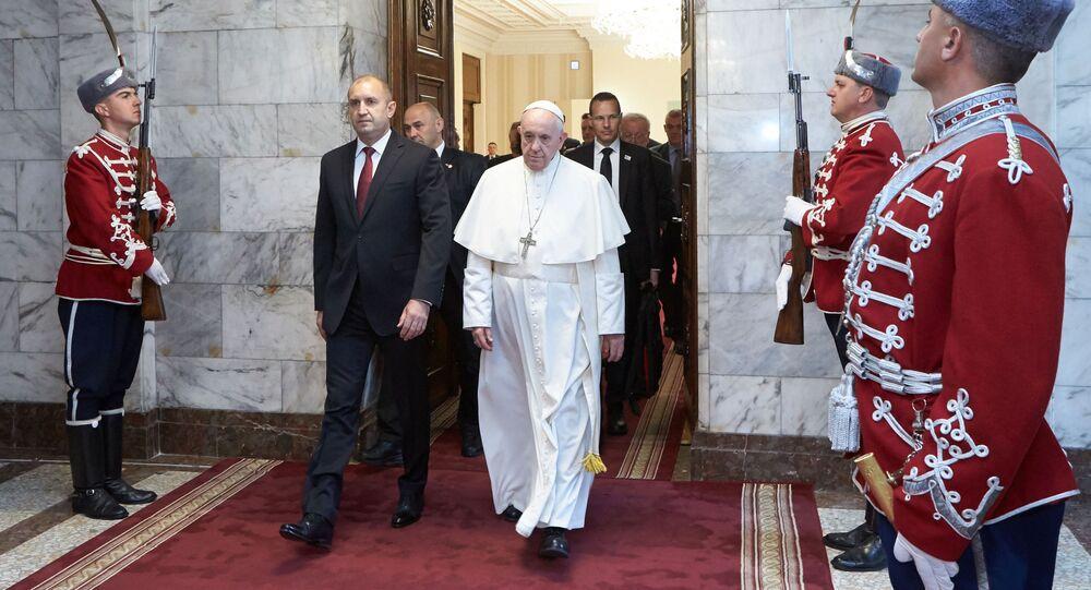 Papa Franciscus'danBulgaristan'da