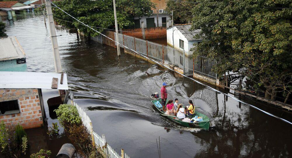 Paraguay'da şiddetli yağış ve sel