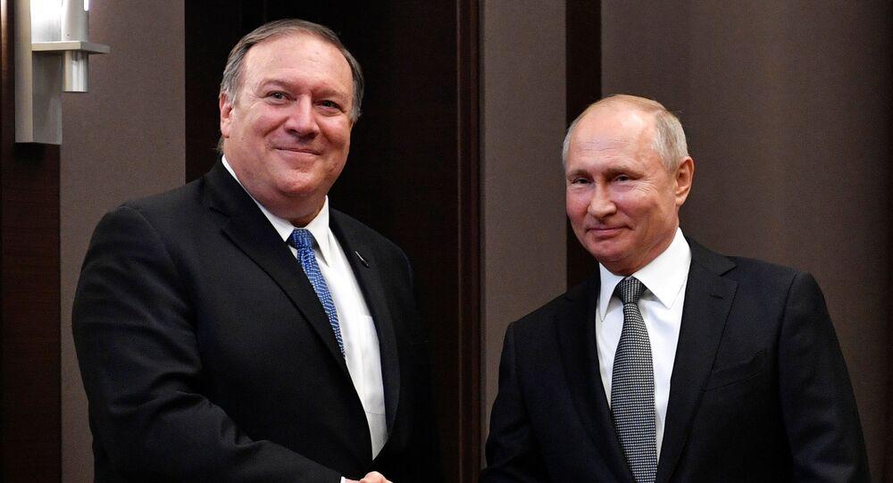 Rusya lideri Vladimir Putin ve ABD Dışişleri Bakanı Mike Pompeo