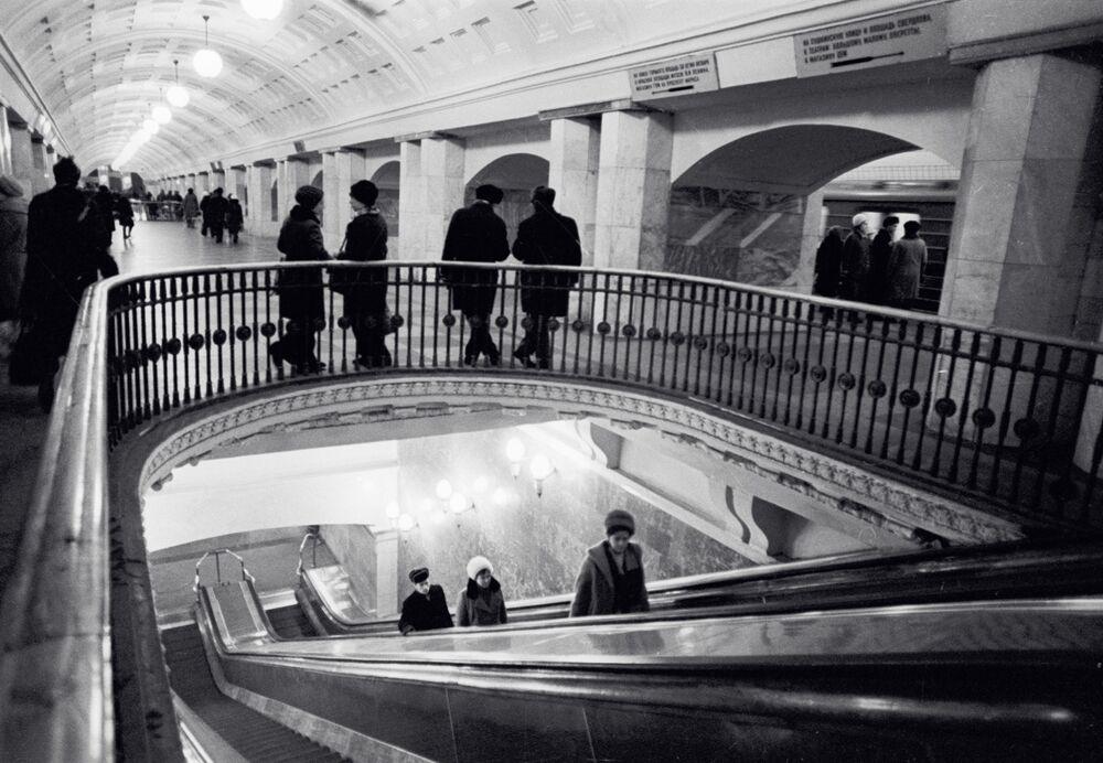 Prospekt Mira isimli istasyonun görünümü, 1980'lı yıllar.