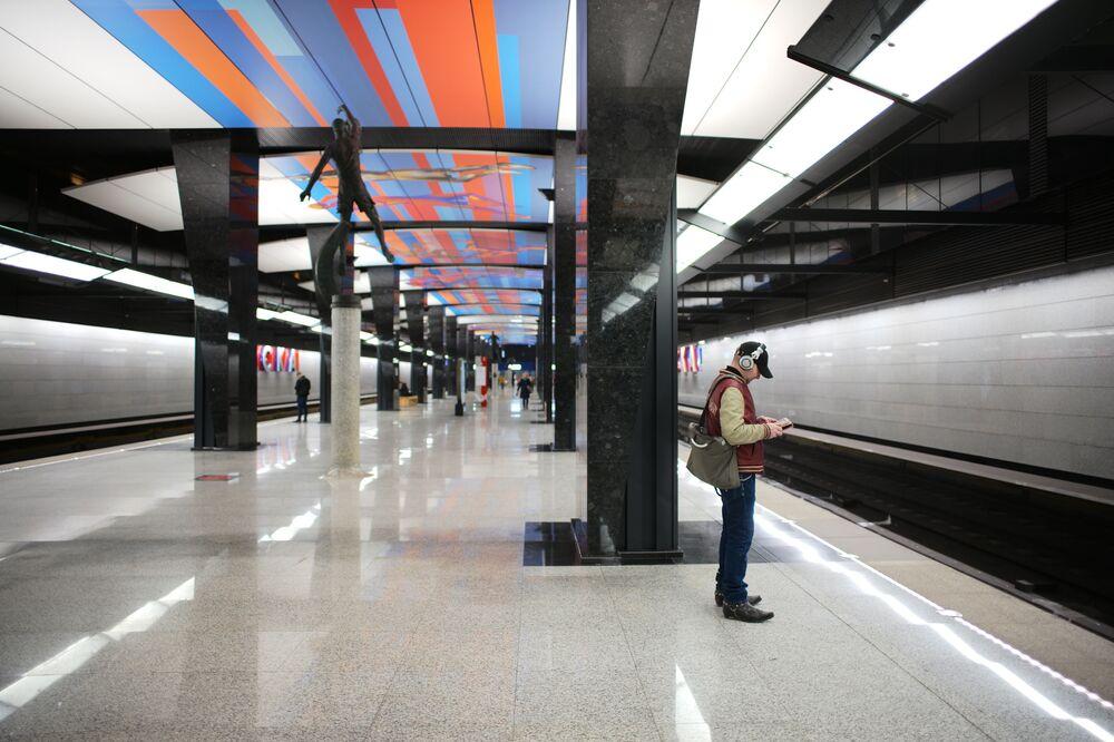 Yeni modern istasyonlarından CSKA istasyonunun görünümü.