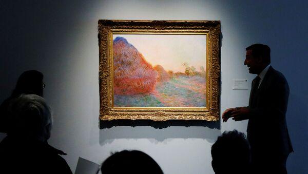 Fransız sanatçı Claude Monet'nin Les Meules (Saman Yığınları) adlı tablosu 110,7 milyon dolara satıldı. - Sputnik Türkiye