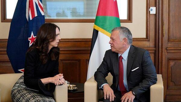 Ürdün Kralı, Yeni Zelanda Başbakanı Ardern ile görüştü - Sputnik Türkiye