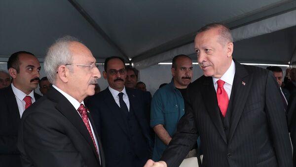 Erdoğan törenden önce Kılıçdaroğlu ile tokalaştı. - Sputnik Türkiye
