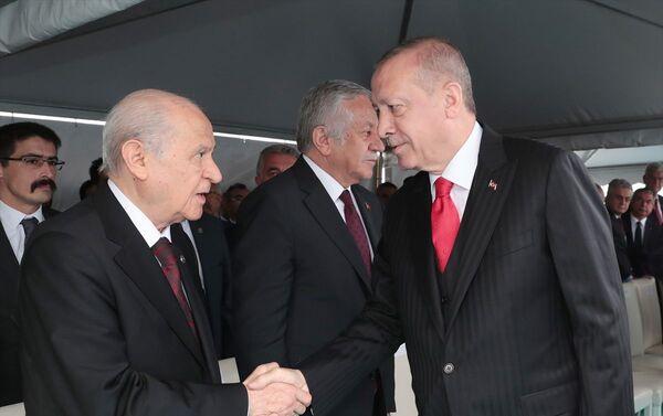 Erdoğan ve MHP lideri Bahçeli - Sputnik Türkiye