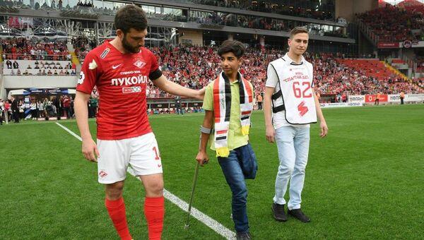 Irak'ta terör saldırısı sonucunda bacağını kaybeden 13 yaşındaki Kasım Kadim - Sputnik Türkiye