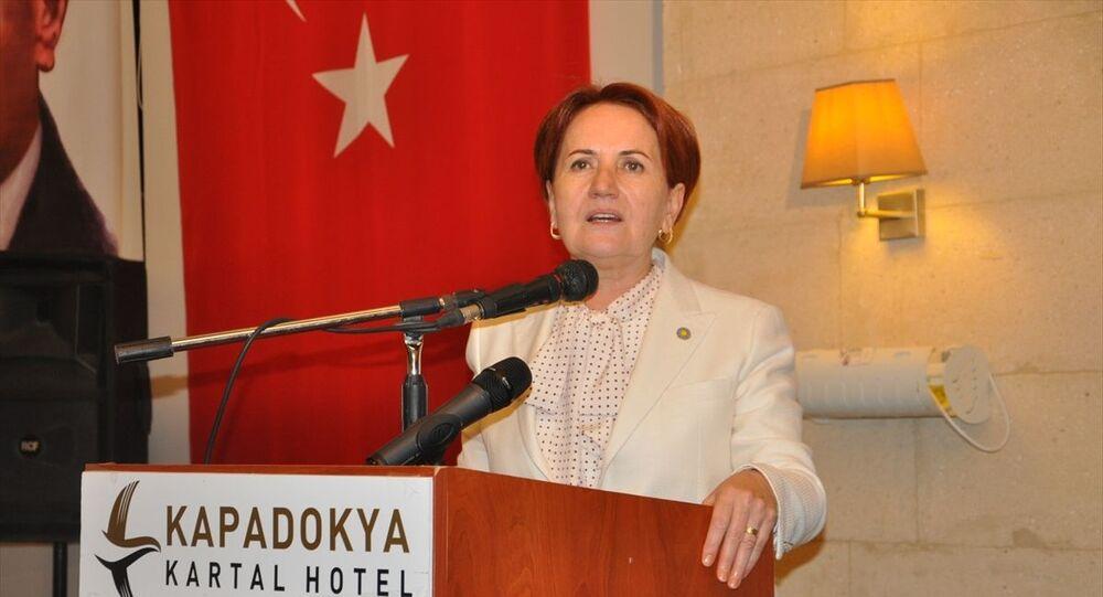 İYİ Parti Genel Başkanı Meral Akşener, partisince Nevşehir'in Gülşehir ilçesinde bir otelde düzenlenen iftar programına katıldı. Akşener, programda partililere hitap etti.