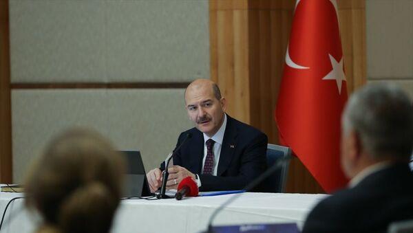 İçişleri Bakanı Süleyman Soylu, Şişli'de muhtarlarla bir araya geldi. - Sputnik Türkiye