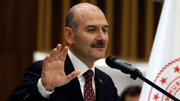 İçişleri Bakanı Süleyman Soylu, Bakanlık personeliyle iftar programında bir araya geldi.  - Sputnik Türkiye