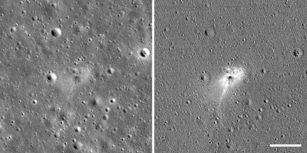 NASA uzay aracı, geçen ay Ay'a çarparak düşen İsrail'in uzay aracının enkazını görüntüledi.