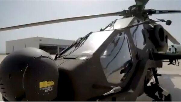 Jandarma Genel Komutanlığının envanterine yeni katılan J-1526 KANUNİ kuyruk numaralı Atak helikopteri için hazırlanan video klip, komutanlığın sosyal medya hesaplarından paylaşıldı. - Sputnik Türkiye