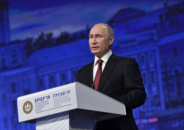 Rusya Devlet Başkanı Vladimir Putin, St. Petersburg Uluslararası Ekonomi Forumu'nda (SPIEF) yaptığı konuşmada, küresel ekonomik gelişmelere ilişkin değerlendirmelerde bulundu.