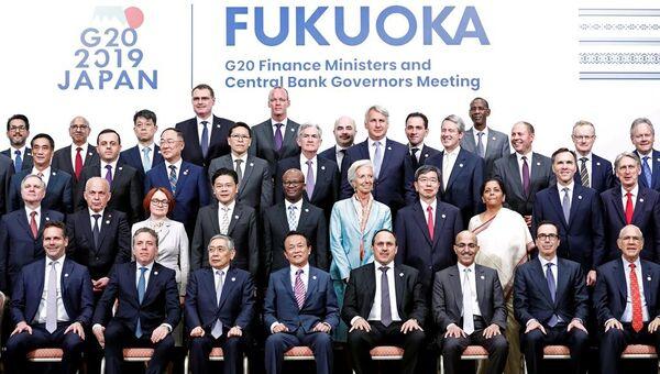 G20 Maliye Bakanları ve Merkez Bankası Başkanları Fukuoka'da toplandı - Sputnik Türkiye