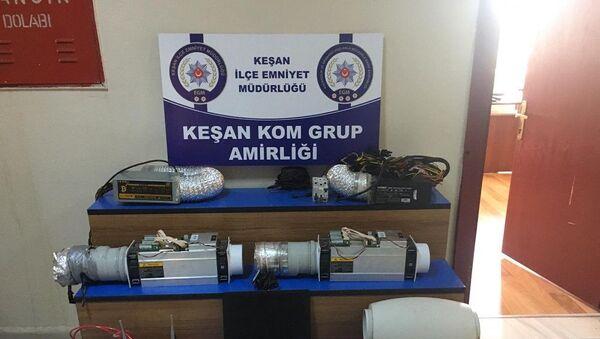 Edirne, kaçak elektrikle Bitcoin üretilen ev, baskın - Sputnik Türkiye