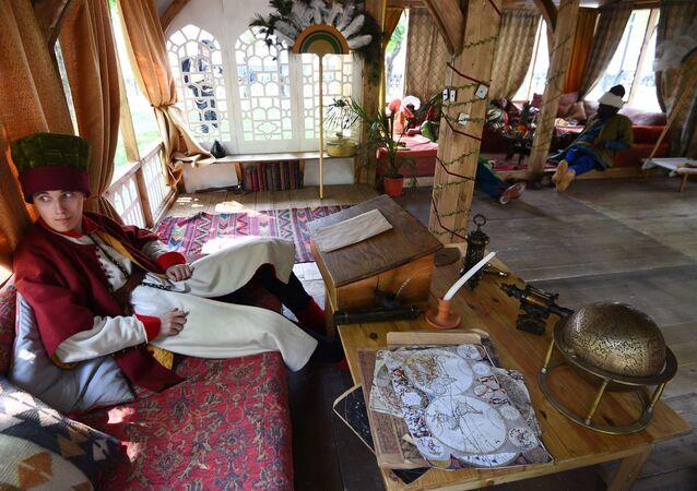 Zamanlar ve Çağlar Festivali'nde kurulan Osmanlı sarayı.
