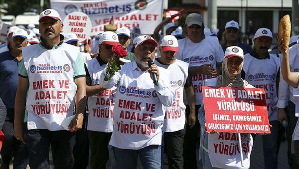 CHP Genel Merkezi'ne yürüyen işçiler - Sputnik Türkiye