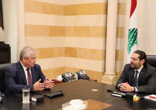 Lübnan Başbakanı Saad Hariri, Rusya Devlet Başkanı Vladimir Putin'in Suriye Özel Temsilcisi Aleksandr Lavrentyev ve beraberindeki heyeti başkent Beyrut'taki Başbakanlık Ofisinde kabul etti.