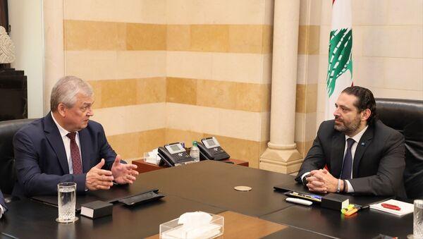 Lübnan Başbakanı Saad Hariri ve Rusya Devlet Başkanı Vladimir Putin'in Suriye Özel Temsilcisi Aleksandr Lavrentyev - Sputnik Türkiye