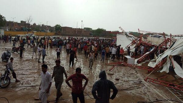 Hindistan'da dini etkinlikte çadır çöktü - Sputnik Türkiye