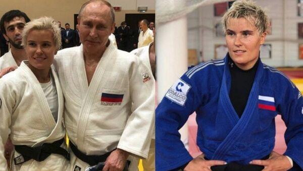 Rusya Devlet Başkanı Vladimir Putin ile şubatta Soçi'de birlikte judo yapan 30 yaşındaki Rus sporcu Natalya Kuziutina - Sputnik Türkiye