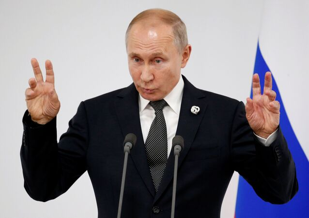 Russian President Vladimir Putin speaks to the media at the G20 summit in Osaka, Japan, June 29, 2019. Alexander Zemlianichenko/Pool via REUTERS