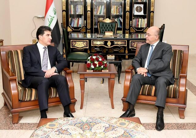 Irak Kürt Bölgesel Yönetimi (IKBY) yeni başkanı Neçirvan Barzani IKBY Başkanı sıfatıyla başkent Bağdat'a ilk ziyaretini gerçekleştirerek Irak Cumhurbaşkanı Berhem Salih ile görüştü.