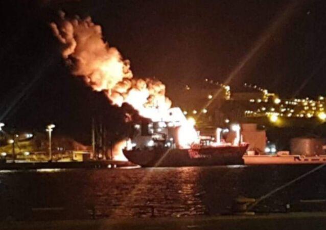 Aliağa'da gemi yangını: 1 ölü