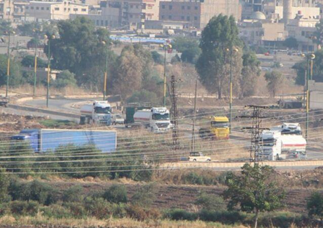 Suriye'ye gelen ABD konvoyu görüntülendi