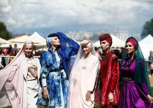 Rusya'nın başkenti Moskova'da Sabantuy Bayramı dolayısıyla kutlama programı düzenlendi.