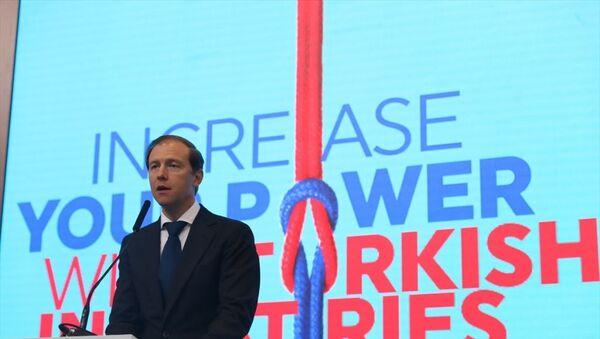 Rusya Sanayi ve Ticaret Bakanı Denis Manturov, - Sputnik Türkiye