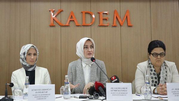 KADEM, Saliha Okur Gümrükçüoğlu, Sümeyye Erdoğan Bayraktar - Sputnik Türkiye