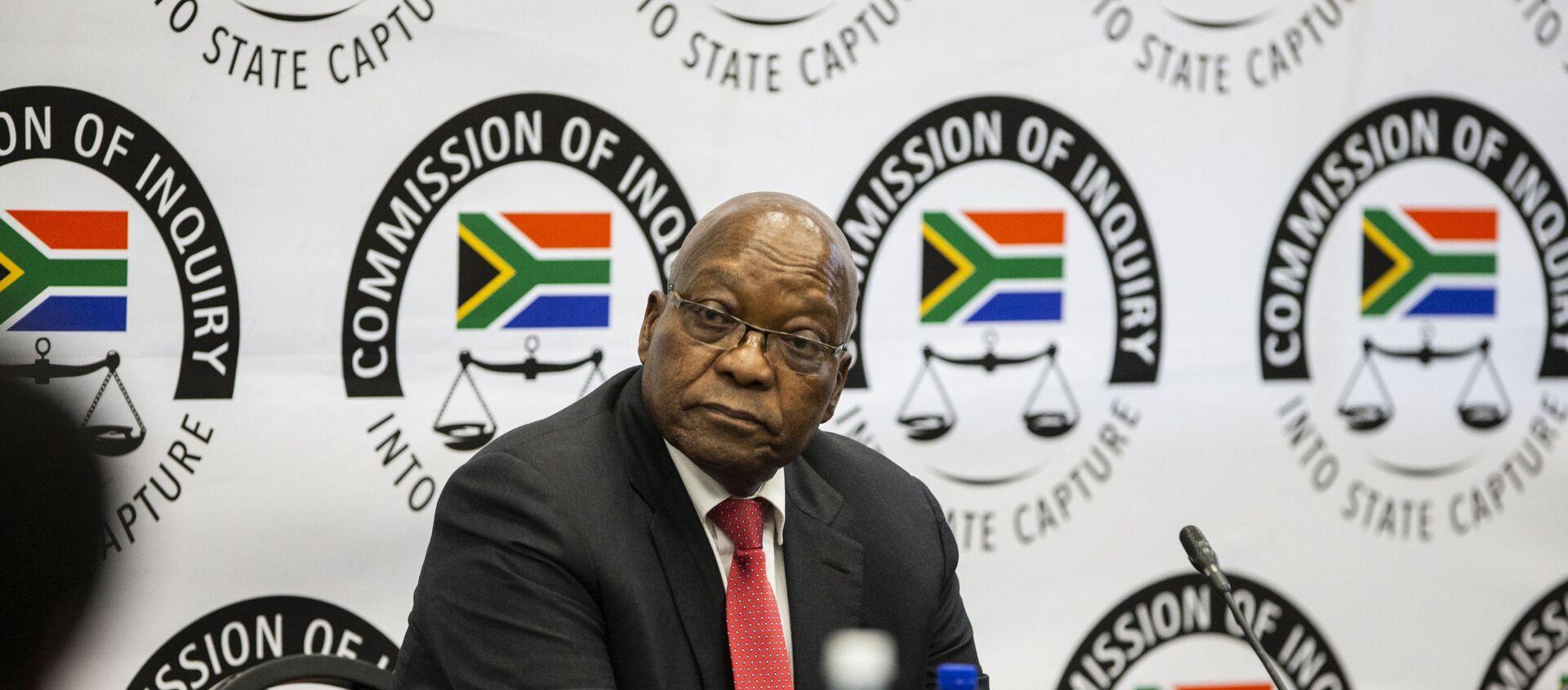 Güney Afrika'nın eski Devlet Başkanı Jacob Zuma, yolsuzluk suçlamaları hakkında soruşturma komisyonunda ifade verdi. - Sputnik Türkiye, 1920, 15.07.2019