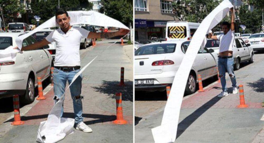 Ankara'da kadın kuaförü Volkan İlbaş (25) otomobilini satmak için notere gittiğinde, son 10 ayda trafikte çeşitli kural ihlallerinden acına 35 ayrı trafik cezası uygulandığını öğrendi. Toplam 11 bin 500 liralık trafik cezasını ödeyerek aracını satan İlbaş, Bence herkes trafik kurallarına uysun dedi.