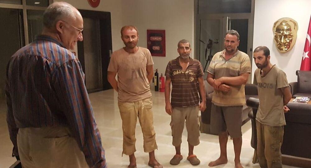 Nijerya'da kurtarılan 4 Türk vatandaşı