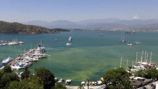 Fethiye Körfezi'ndeki renk değişimi - Sputnik Türkiye