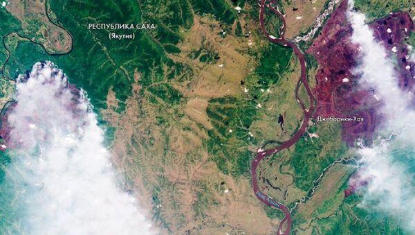 Roscosmos, Sibirya'daki orman yangınlarının uzay görüntülerini yayınladı - Sputnik Türkiye
