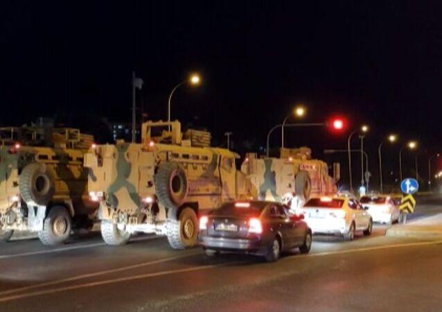 Suriye sınırındaki askeri birliklere zırhlı araç ve komando takviyesi