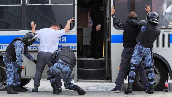 Moskova'da yapılan izinsiz gösteride 30 gözaltı - Sputnik Türkiye