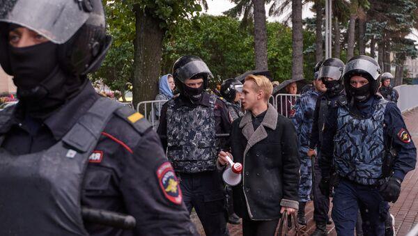 Moskova'daki protestolarda çok sayıda kişi gözaltına alındı - Sputnik Türkiye