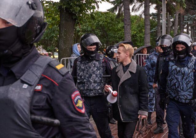 Moskova'daki protestolarda çok sayıda kişi gözaltına alındı